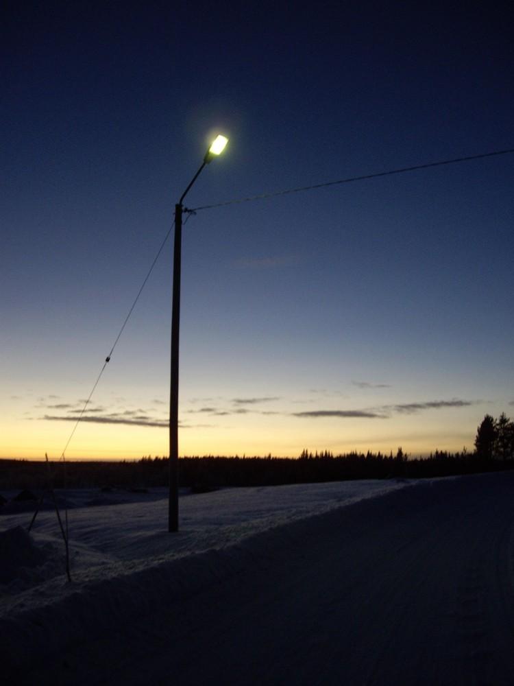 la lumière de Kitkiojärvi