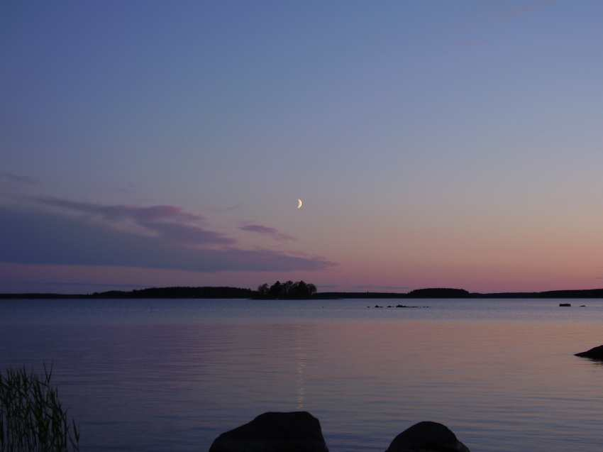 La Luna a medianoche