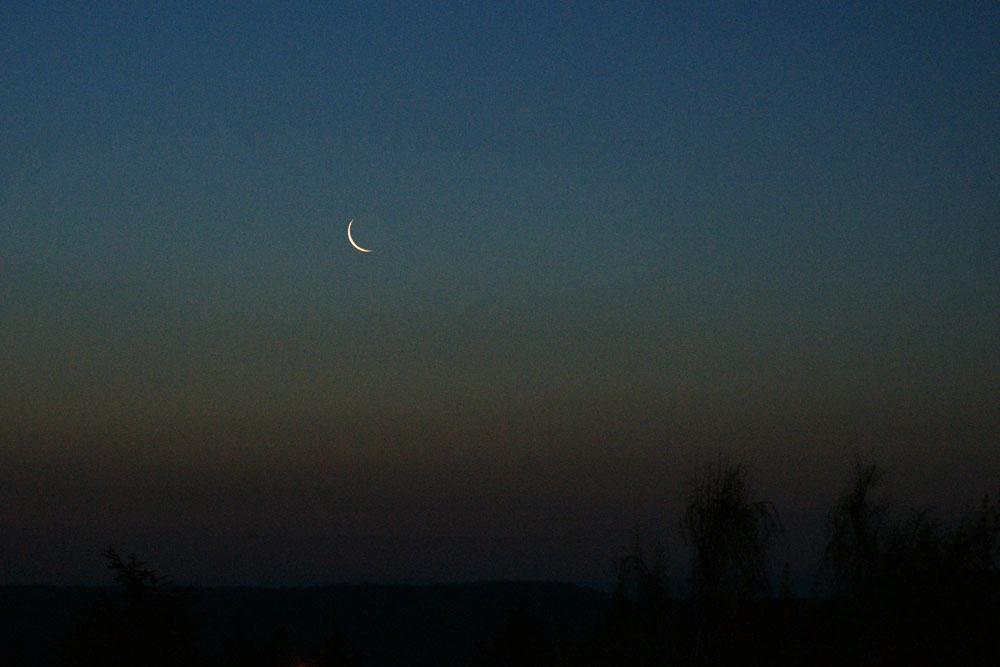la lune ce matin 2