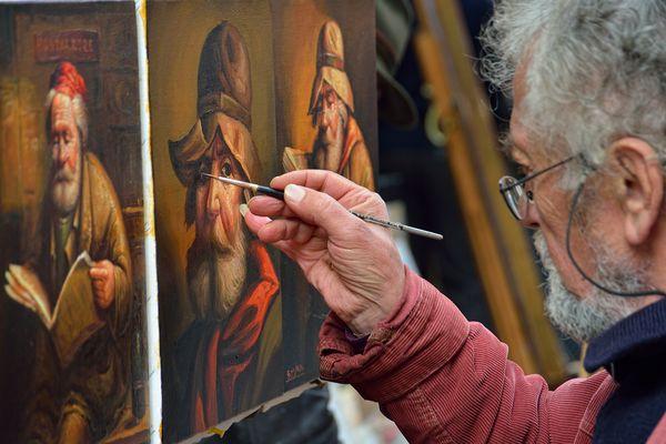 La mano dell'artista