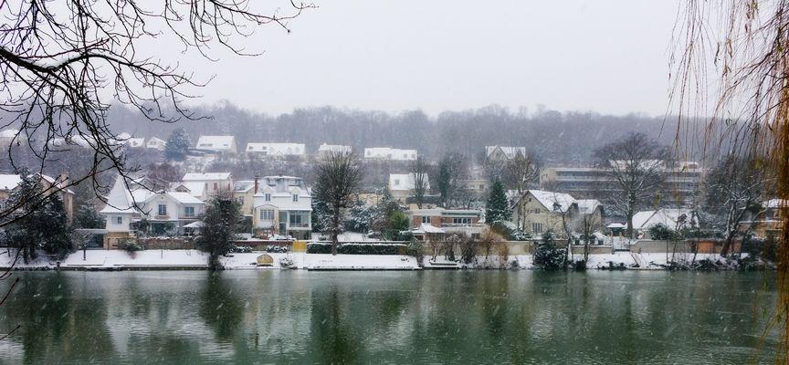 La Marne sous la neige.
