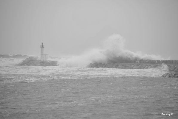 La mer dechainer en pleine tempete