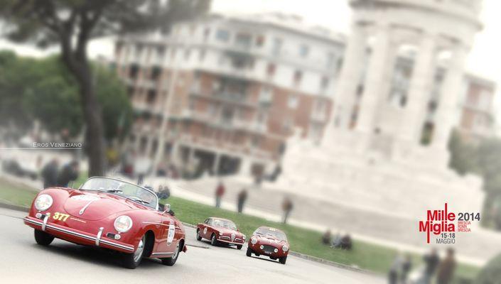 La Mille Miglia 2014 Porsche  356  Monumento del Passetto Ancona