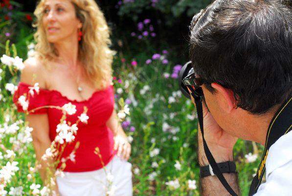 la modella l'è bella e il fotografo?