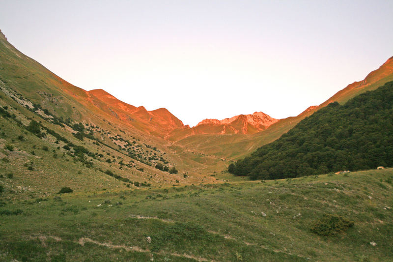 La montagna timida