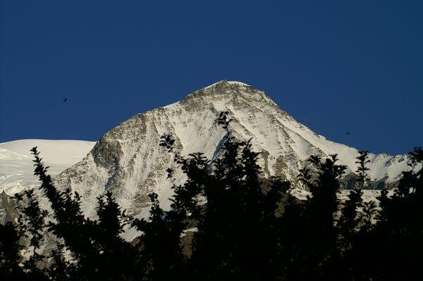 la montagne le soir