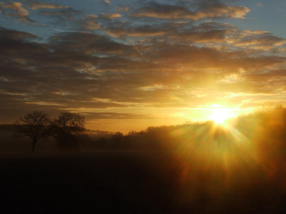la montée du soleil