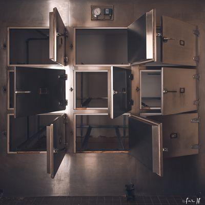 la morgue d'un hôpital abandonée