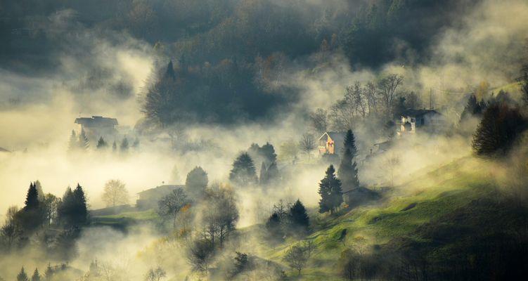..la nebbia a glirti colli piovigginando sale....
