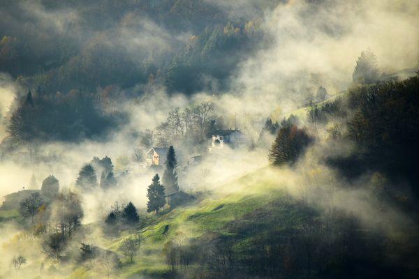 la nebbia agli irti colii