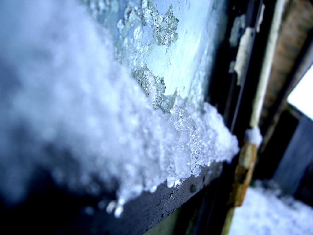 la neige dans le moindre recoin