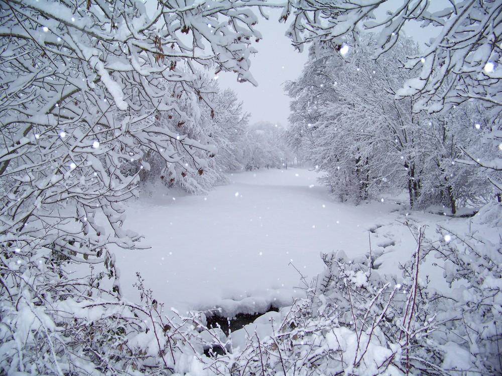la neige tombe encore...