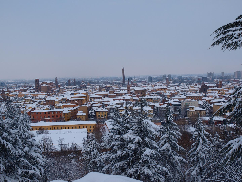 La neve da S. Michele in Bosco