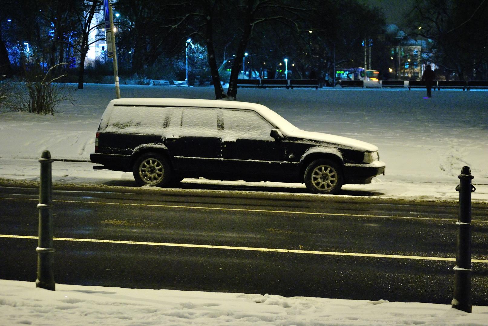 La nieve detiene.