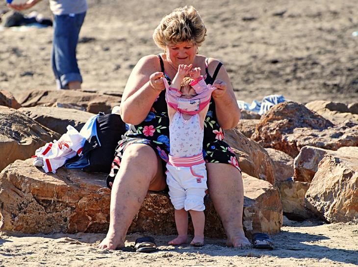 La nonnona e il nipotino