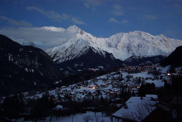 La nuit sur le Mont Blanc