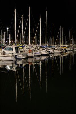 la nuit sur mon bateau