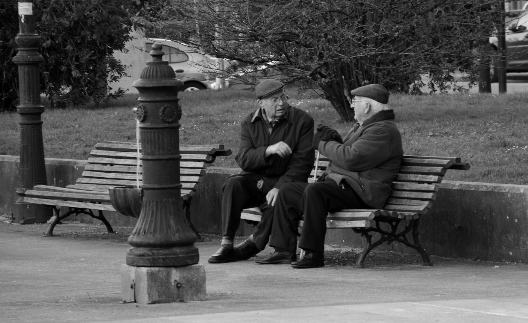 la pareja en el parque