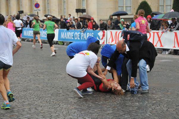 La Parisienne 2011 (fait divers ) à l'arrivée