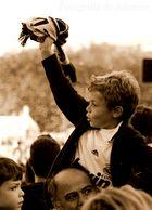 La pasión por el fútbol no comprende de edades.