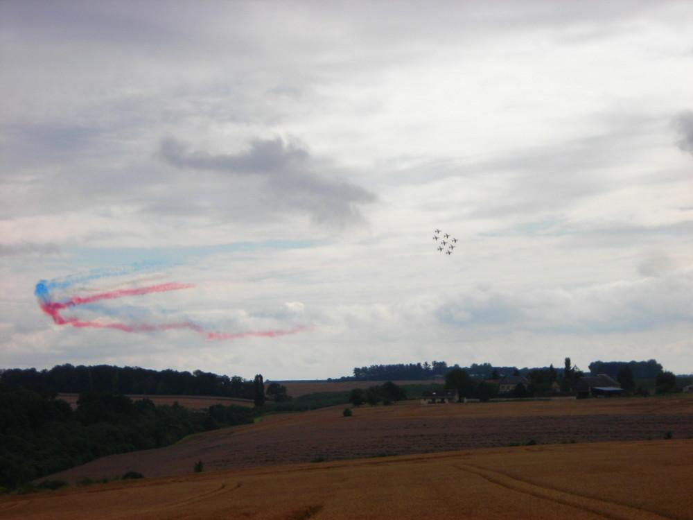 la patrouille de France dans la vallée de l'Eure