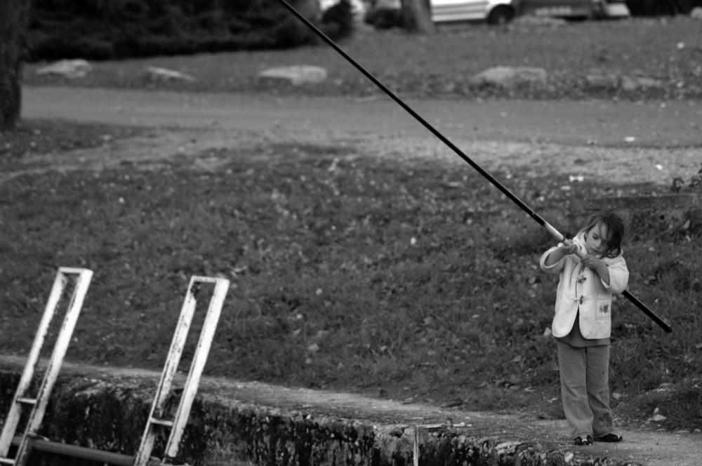 La pêcheuse.