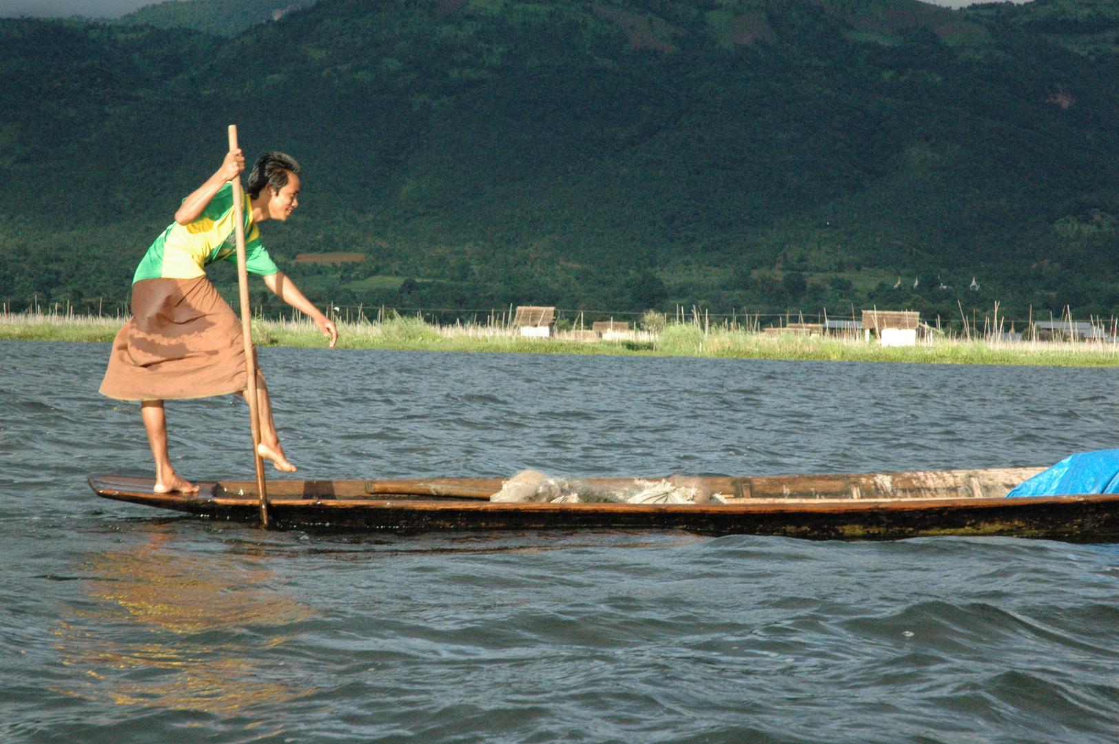 La pesca sul lago Inle