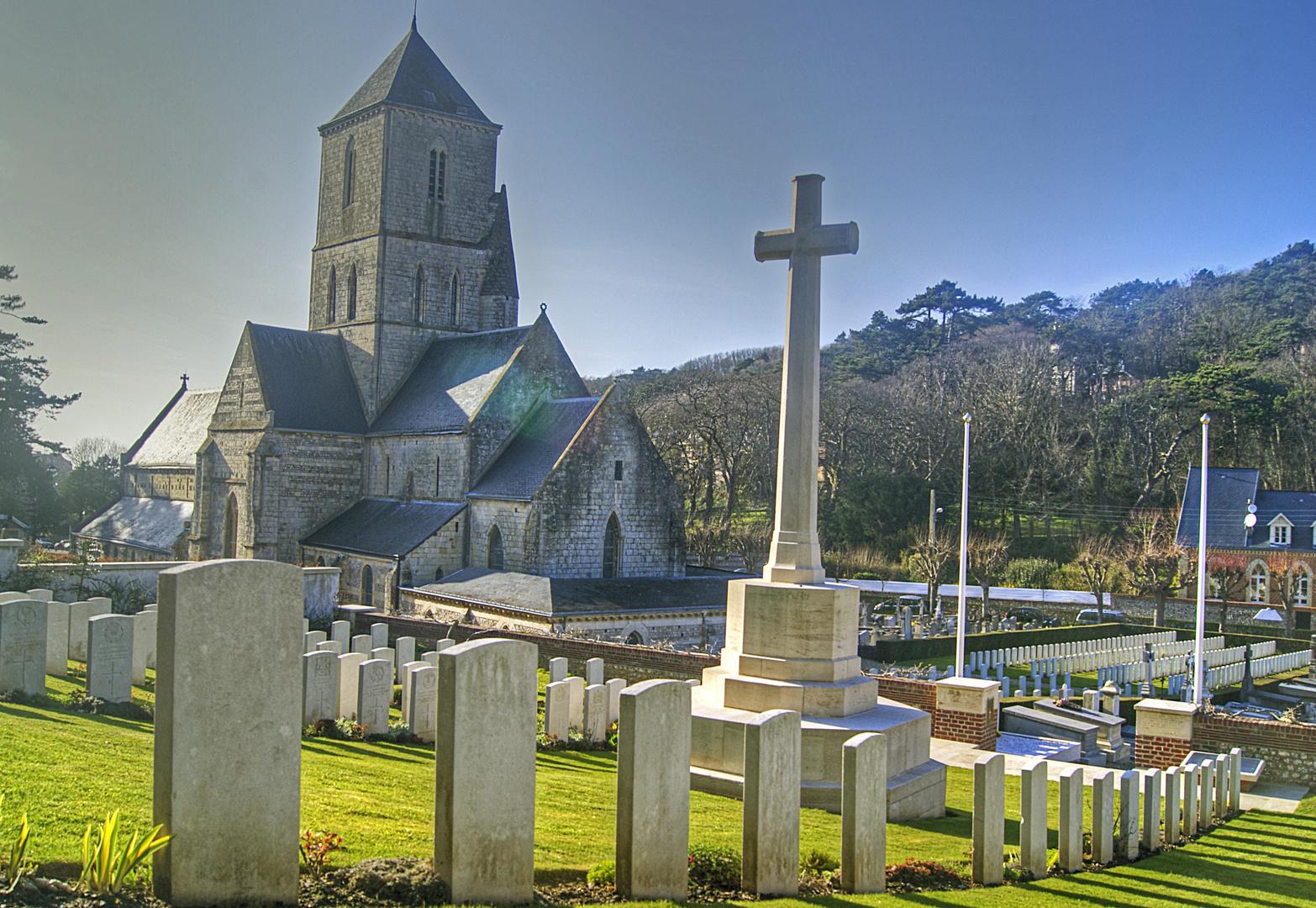 la petite église d'Etretat, seine maritime