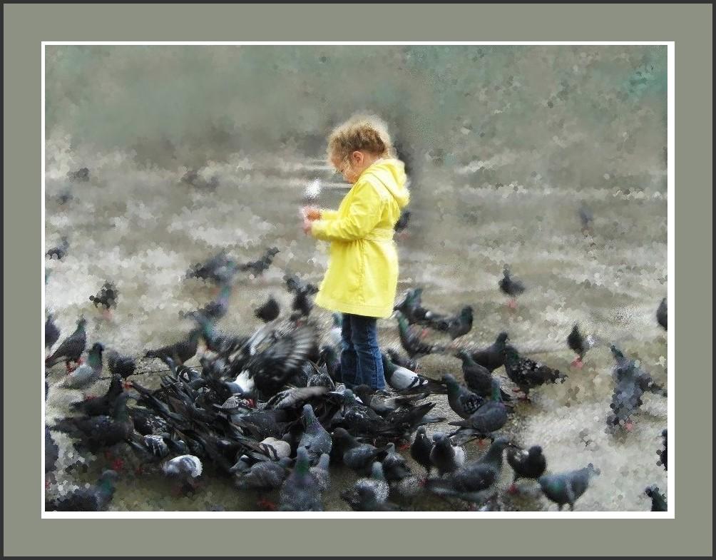 La petite fille aux pigeons