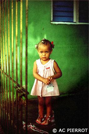 La petite fille verte
