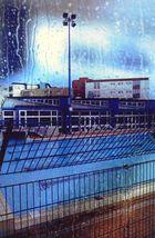 La piscine et la pluie