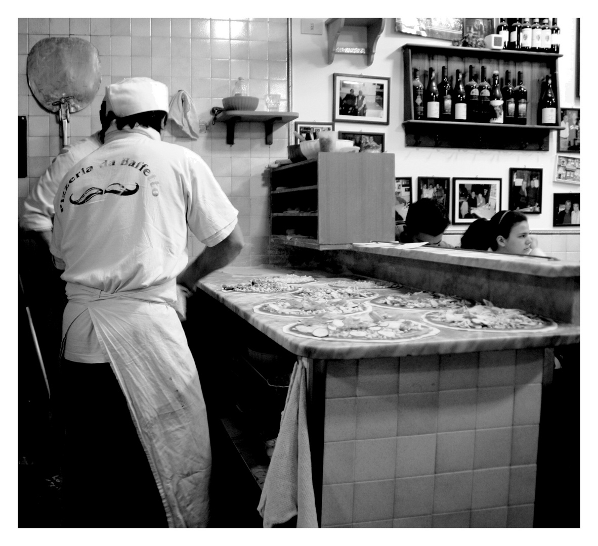 La pizzeria Da Baffetto à ROMA