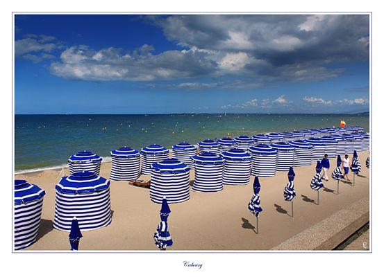 la plage à Cabourg