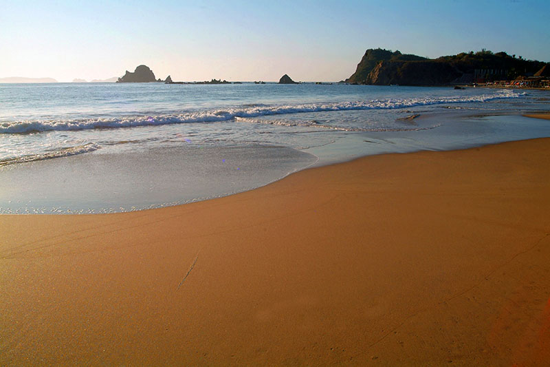 la plage de Chamela(mexique)