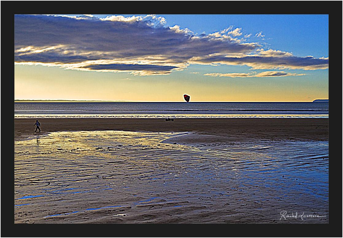 La plage de Pentrez, Finistère, coucher de soleil