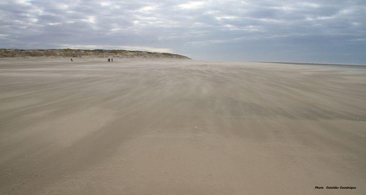 La plage du Touquet (pas de calais)
