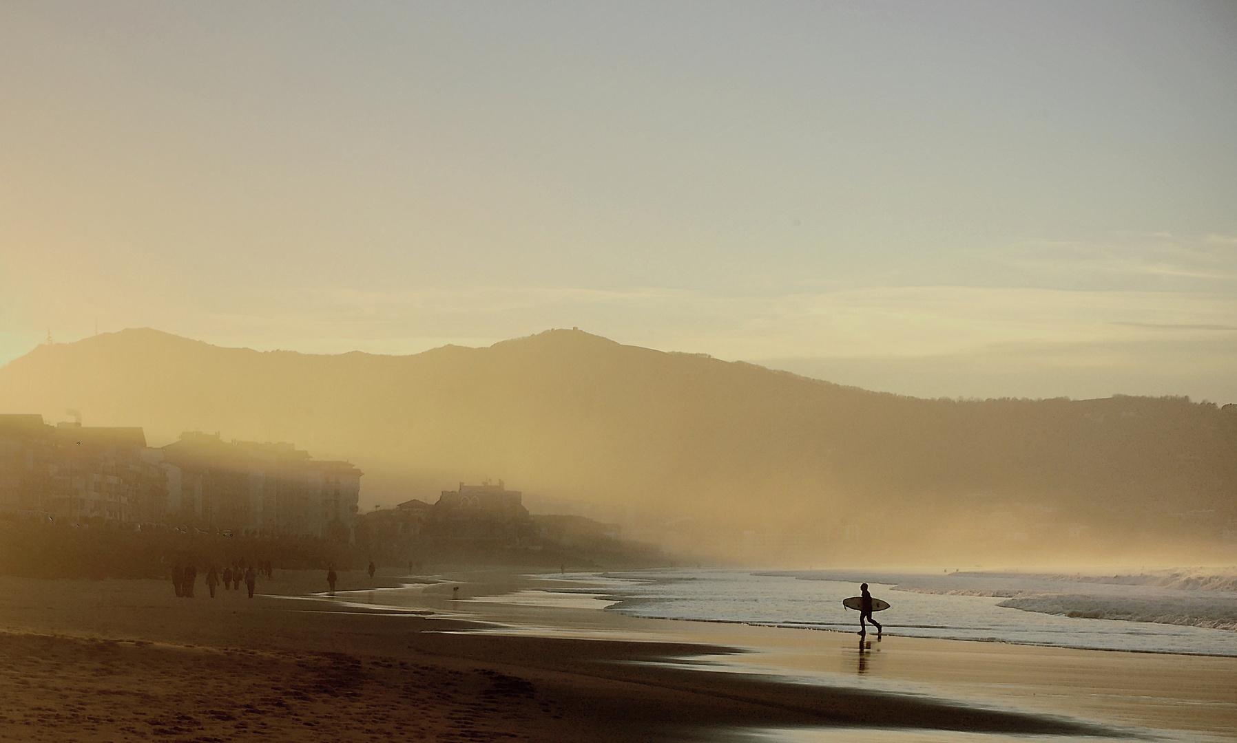 la plage hendaye