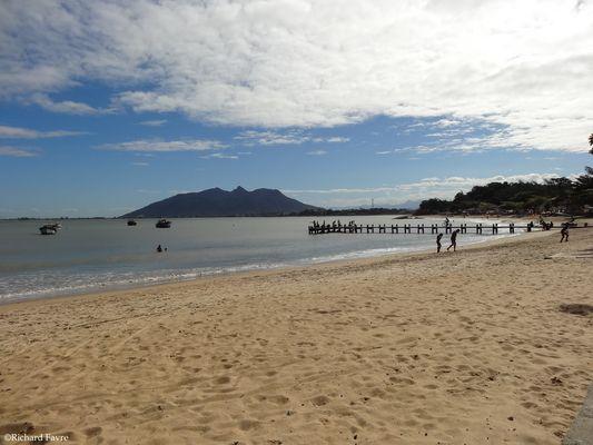 La plage près de Rio de Janeiro