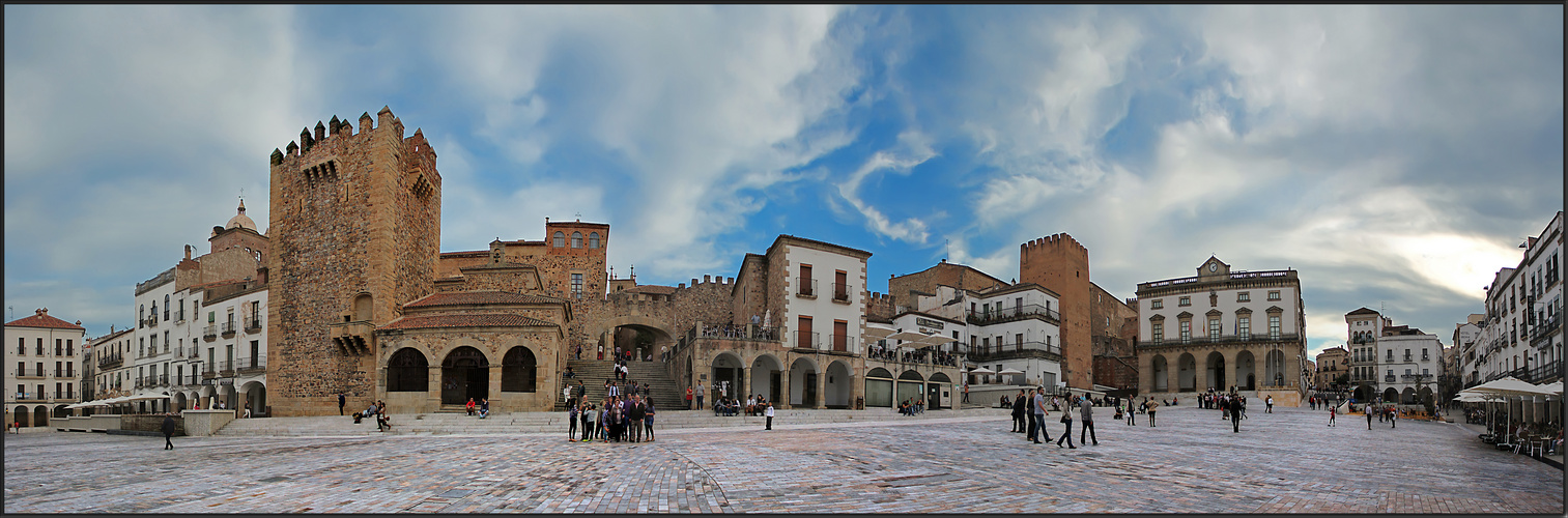 La plaza de Cáceres