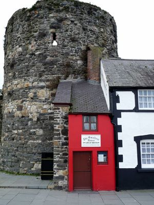 La plus petite maison de GB (à Conwy, Pays de Galles)