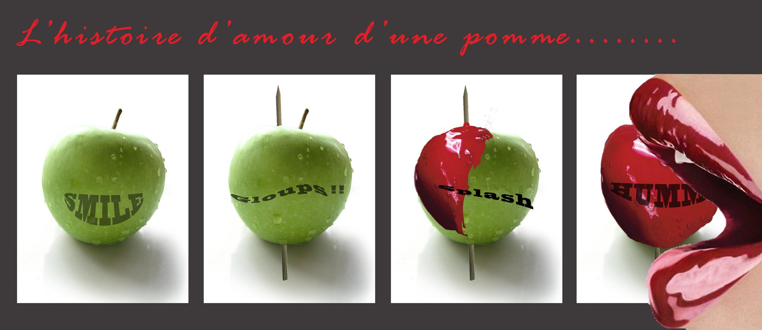 La pomme de la St Valentin .