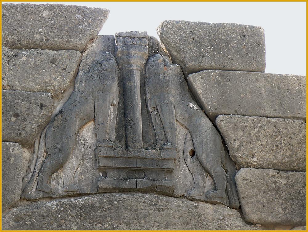 La porta dei leoni dell 39 antica micene 1300 a c grecia - La porta dei leoni a micene ...