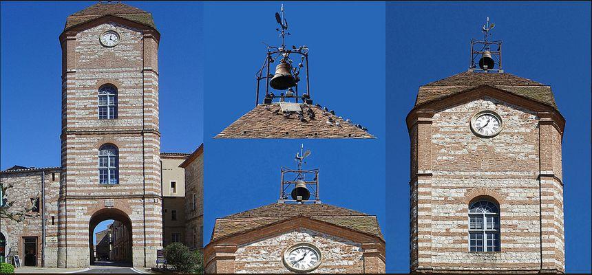 La Porte Arnaud Othon (vicomte d'Auvillar) et la Tour de l'Horloge à Auvillar (Tarn-et-Garonne)