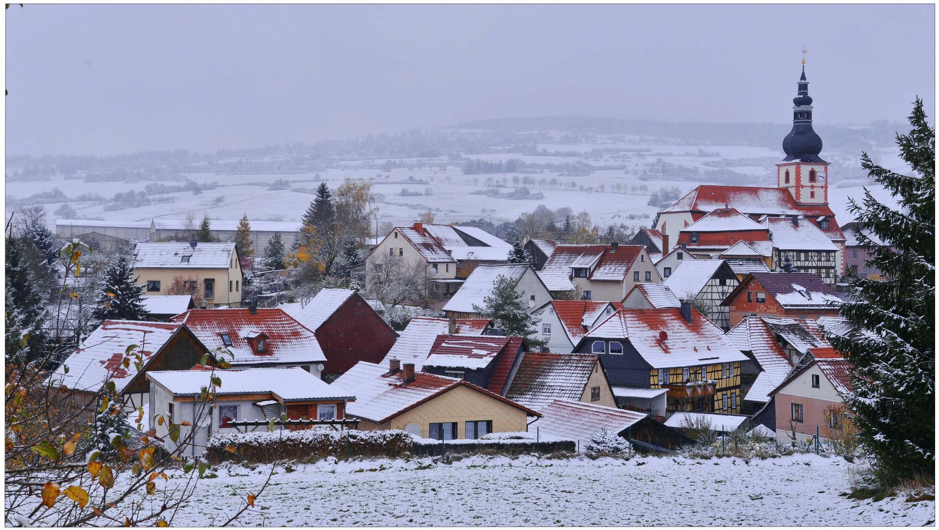 la primera nieve de este año (der erste Schnee in diesem Jahr)