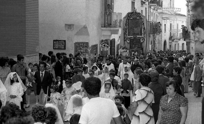 la processione...