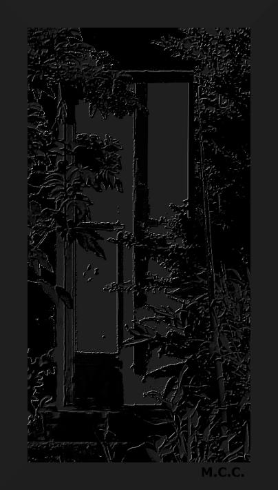 La puerta de la cocina.