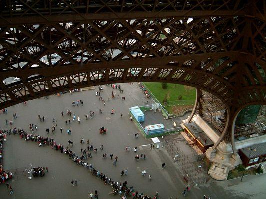 La queue de la Tour Eiffel