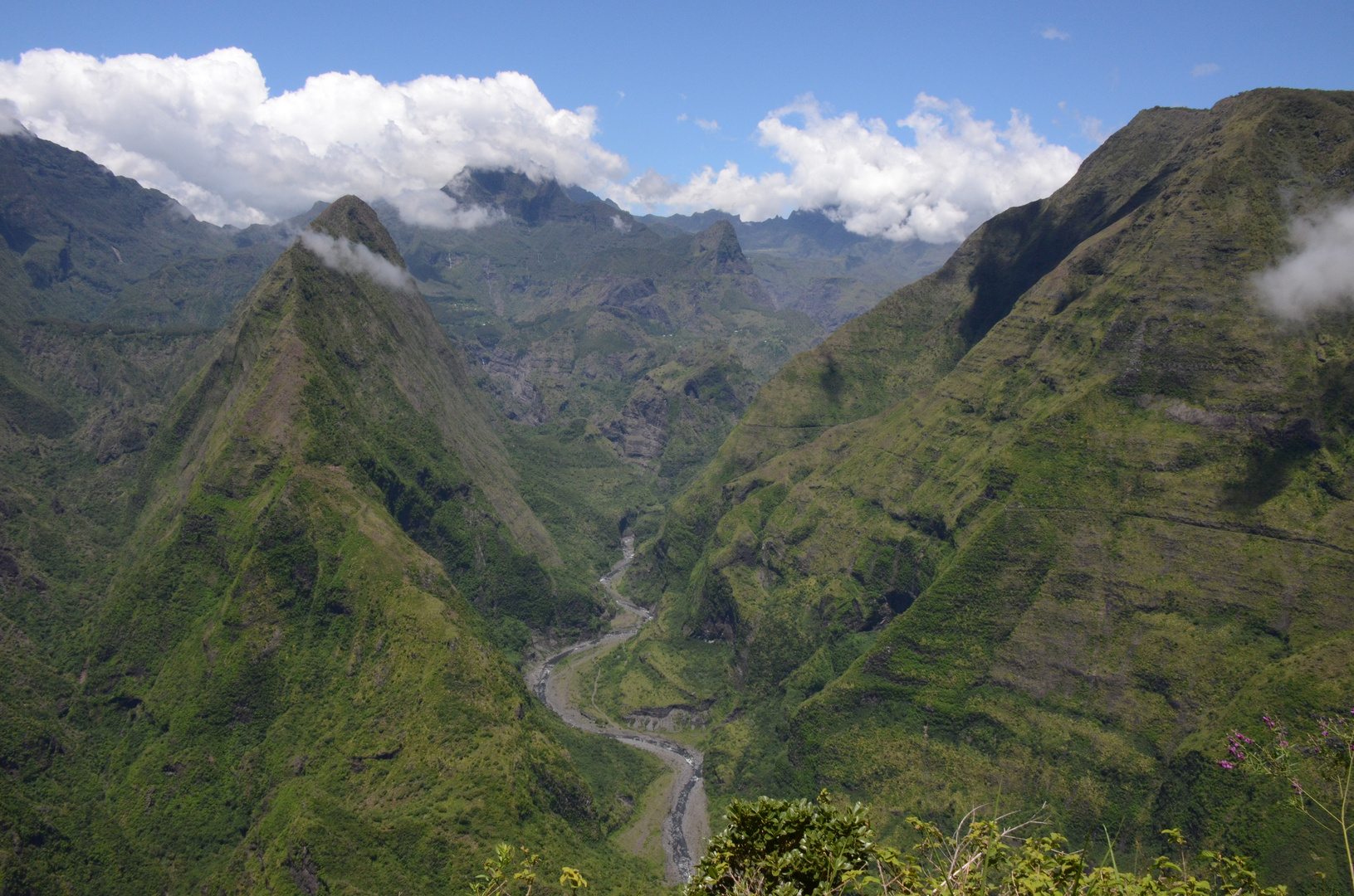 La Réunion : Blick vom Cap Noir in den Cirque Mafate