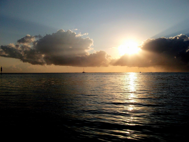 la reunion - Coucher de soleil sur l'Océan