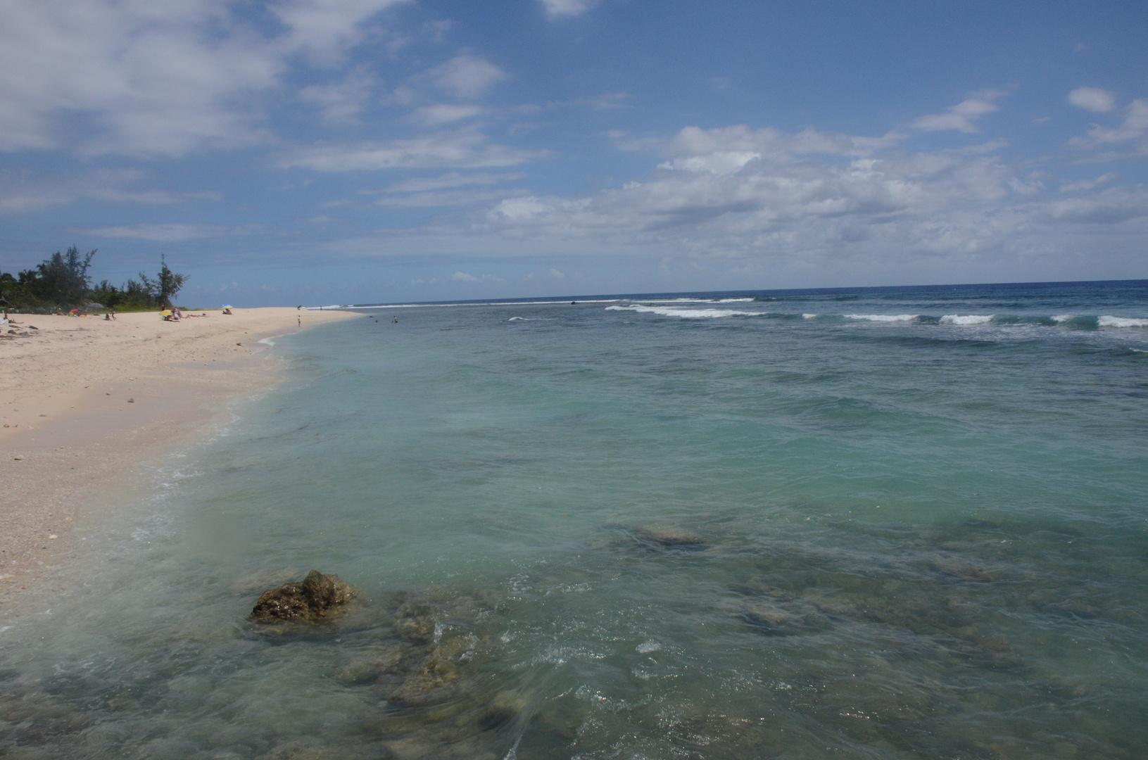 La Réunion : Strandszene in St. Gilles